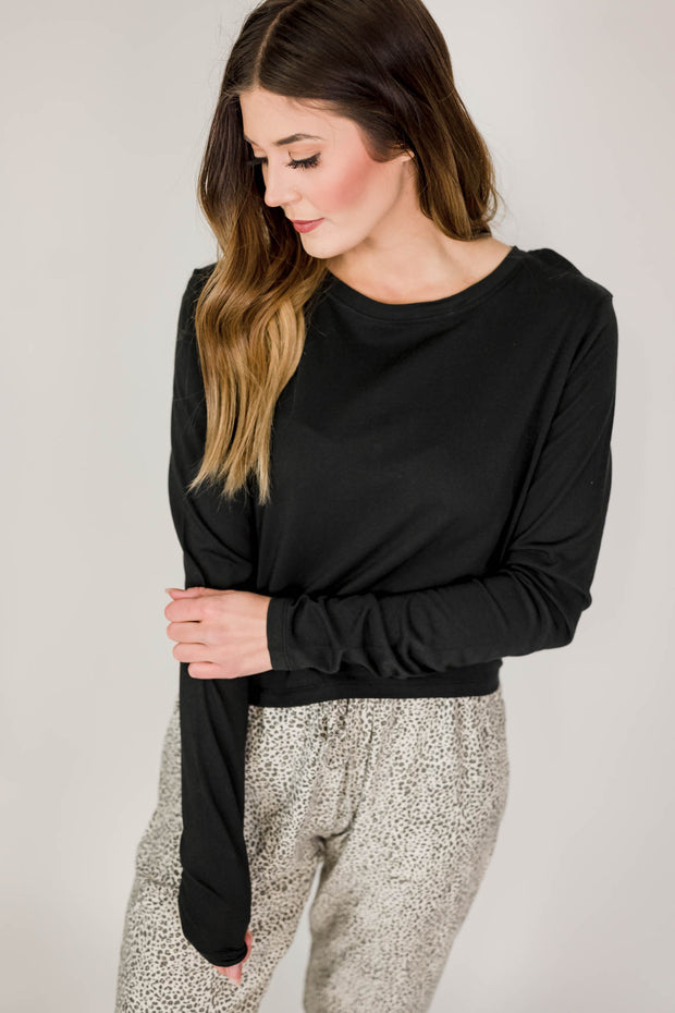 Tie-Back Double Cutout Top