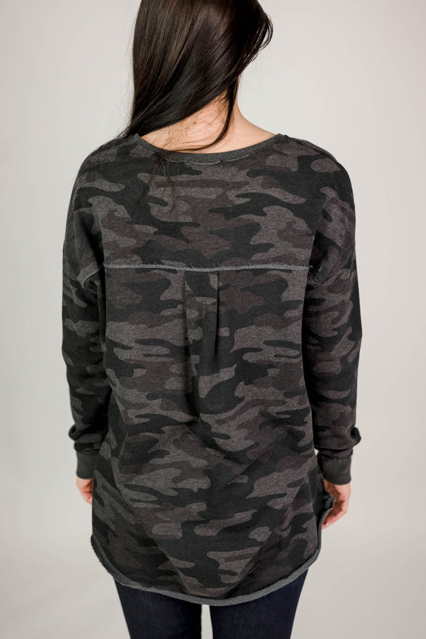 Z Supply Dusty Camo V-Neck Weekender