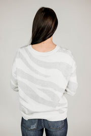 Zebra Knit Sweater