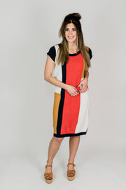 Color Block Stripe Dress