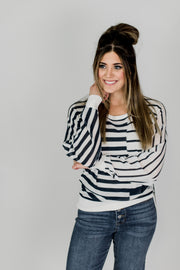 Patchwork Stripe Lightweight Sweater