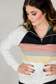 Color Block Contrast Pullover