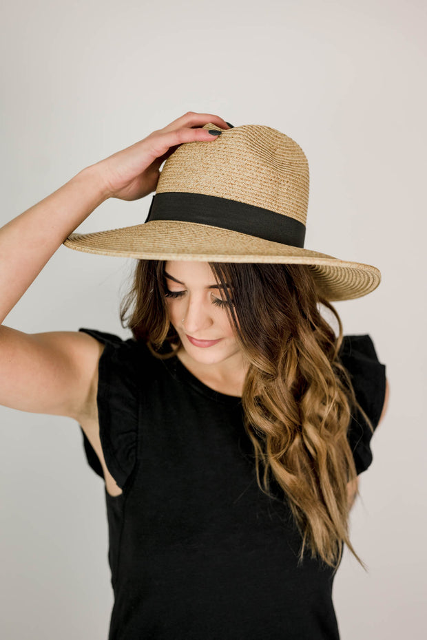 Large Brim Paper Braid Panama Hat