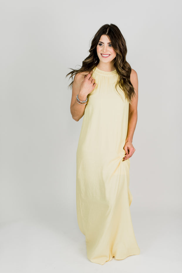 Braided Sunshine Halter Dress