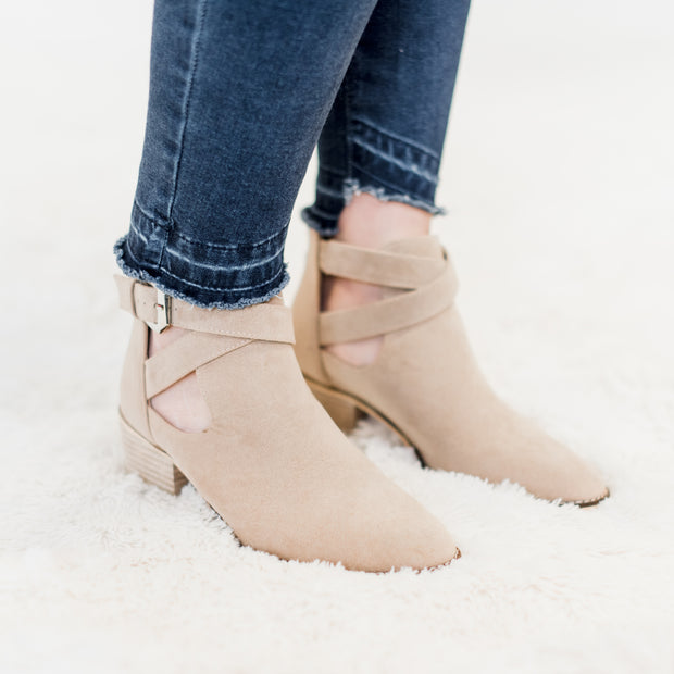 Cyrus Taupe Bootie