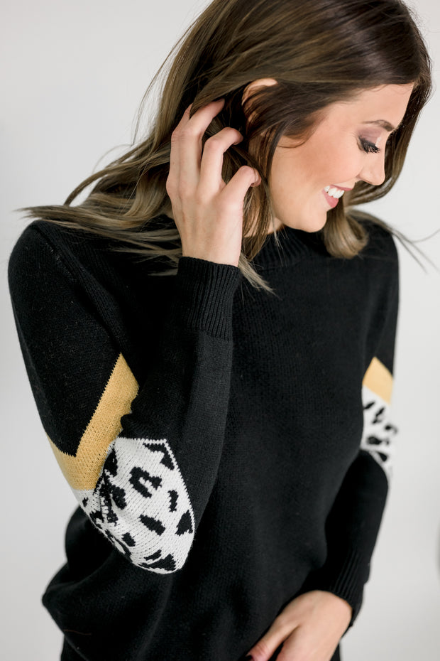 Animal Patch Sweater