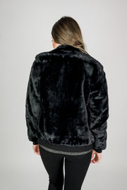Faux Fur Plush Coat
