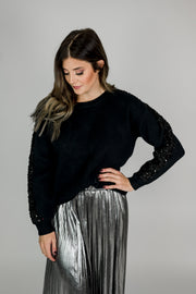 Sparkle Sleeve Sweater
