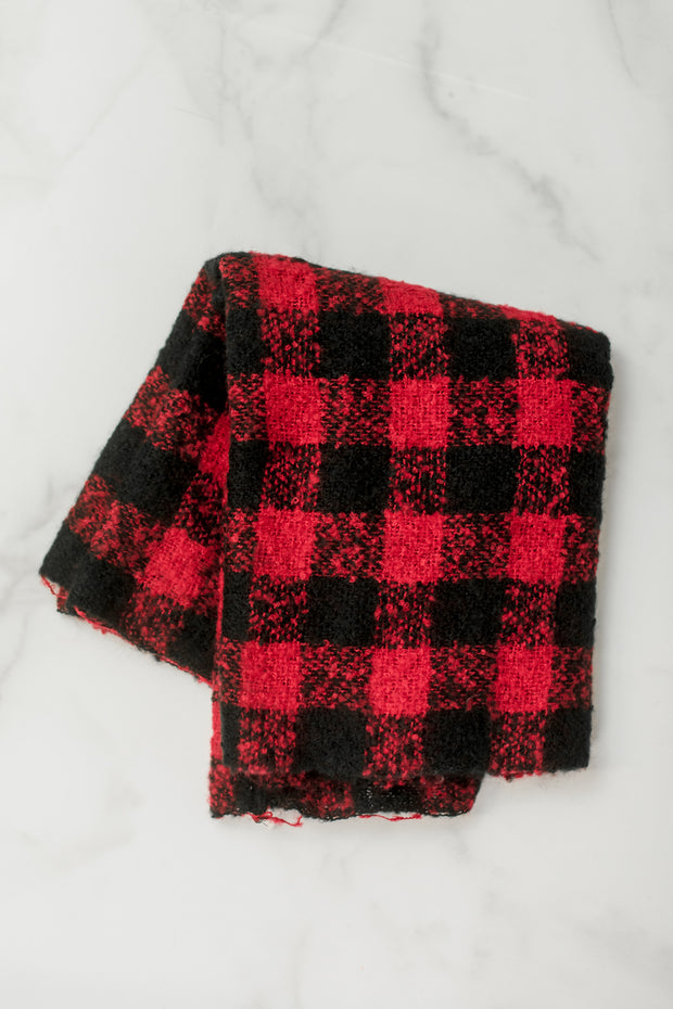 Soft Buffalo Check Infinity Scarf