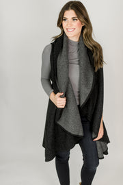 Two Tone Shawl Vest