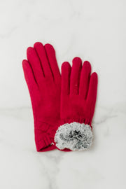 Ruffle Trimmed Gloves