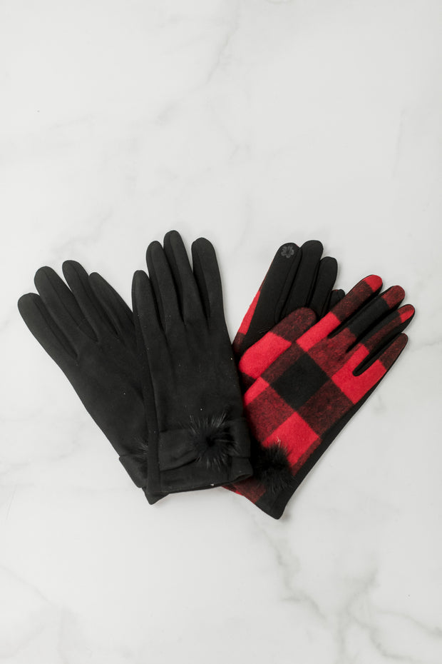 Fur Pom Gloves