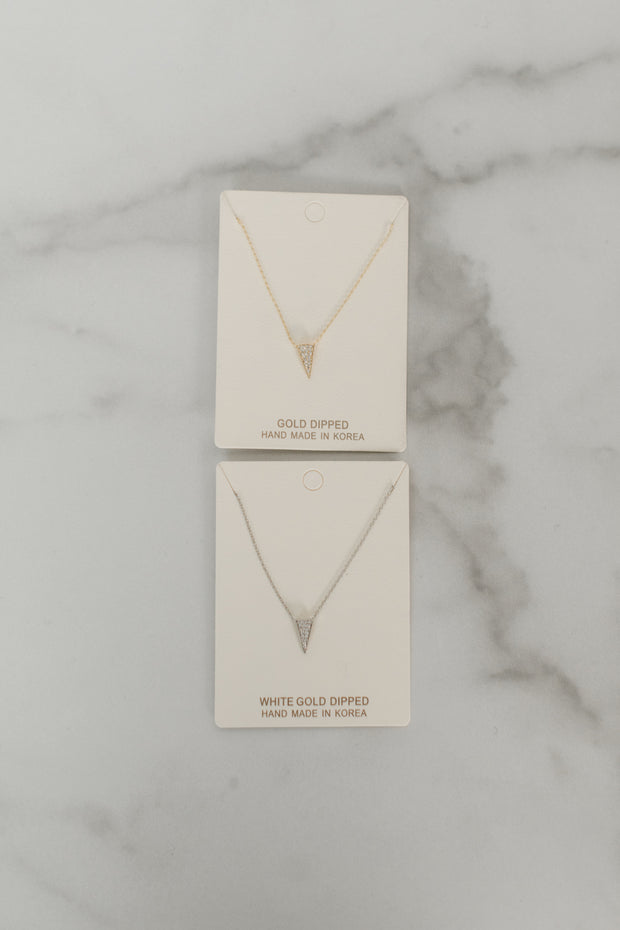 Triangle Arrow Dainty Necklace