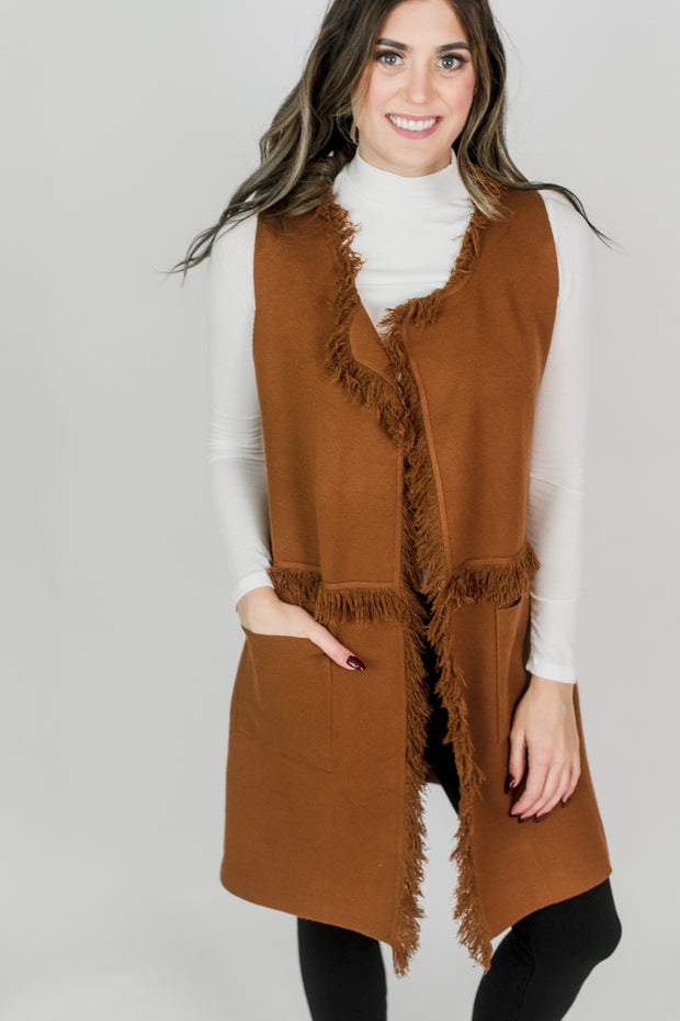 Heavy Fringed Vest