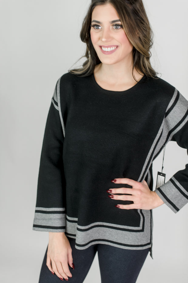 Stripe Squared Pullover Top