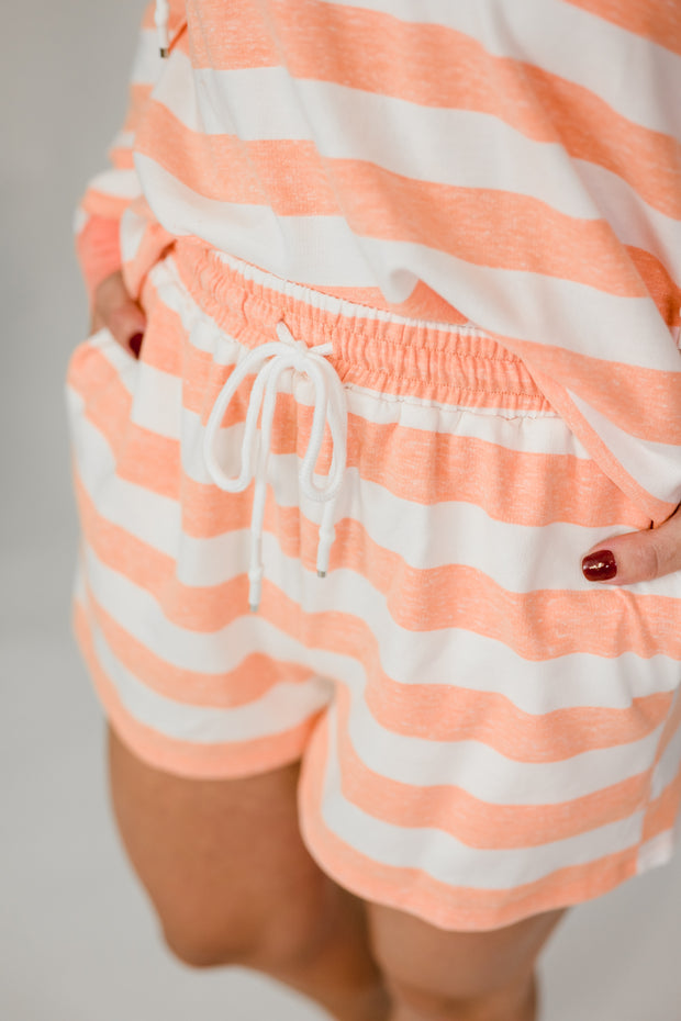 Stripe French Terry Shorts
