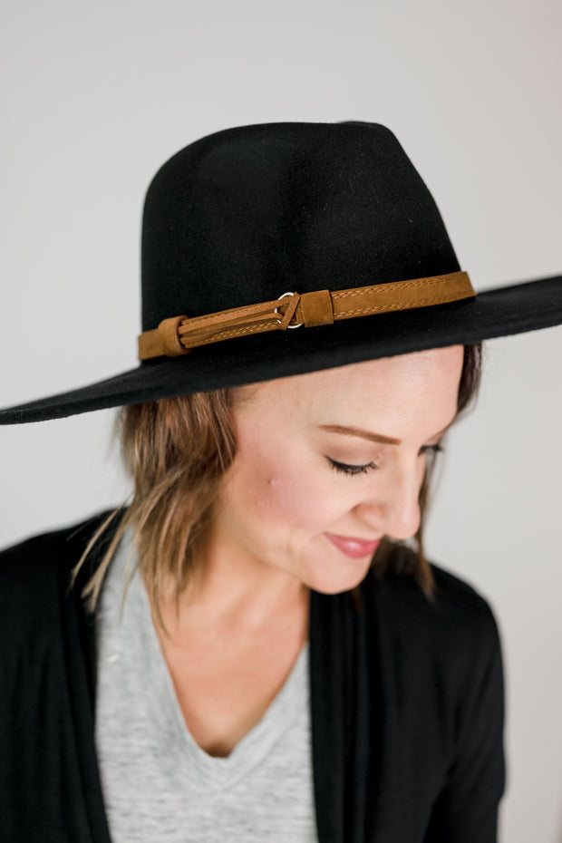 Wide Brim Banded Hat