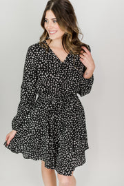 Elastic Waist Animal Print Dress
