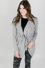 Z Supply Marled Wrap Front Cardigan