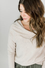 Draped Cowl Neck Sweater