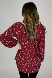 Long Sleeve Heart Blouse