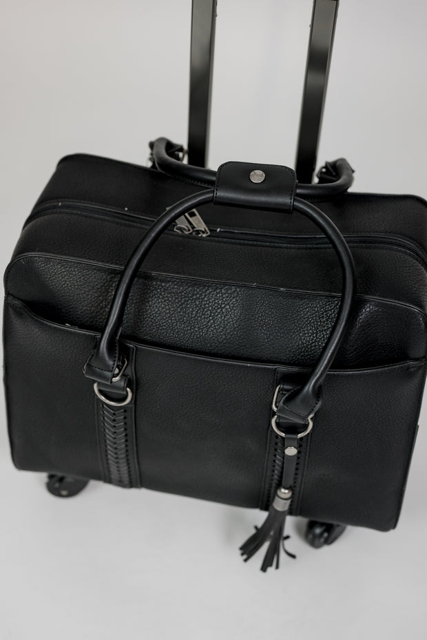 Braided Side Roller Bag Black