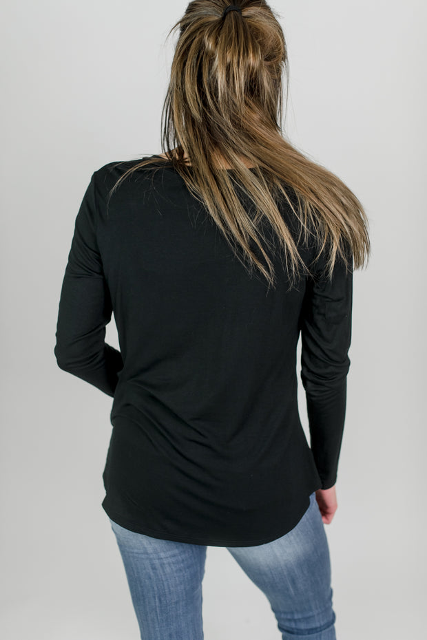 Rayon Long Sleeve Pocket Tee
