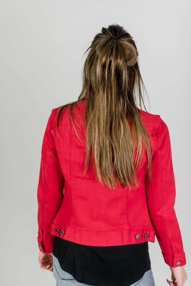 Liverpool Ruby Red Jean Jacket
