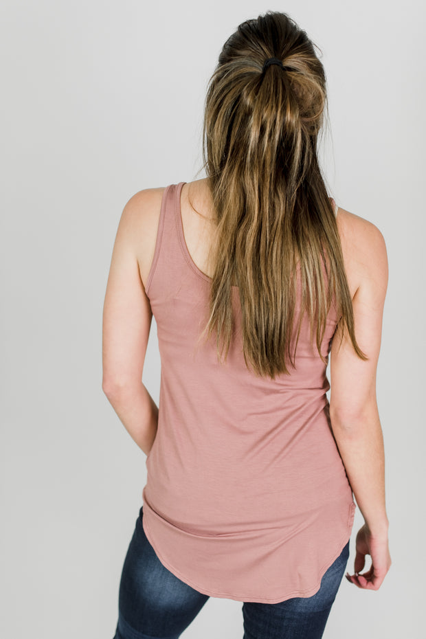 Round Bottom Basic Tank Top