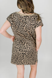 Lazy Day Leopard T-shirt Dress