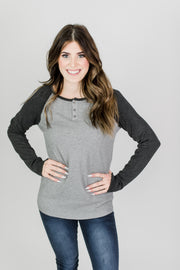 Three Button Henley Tee