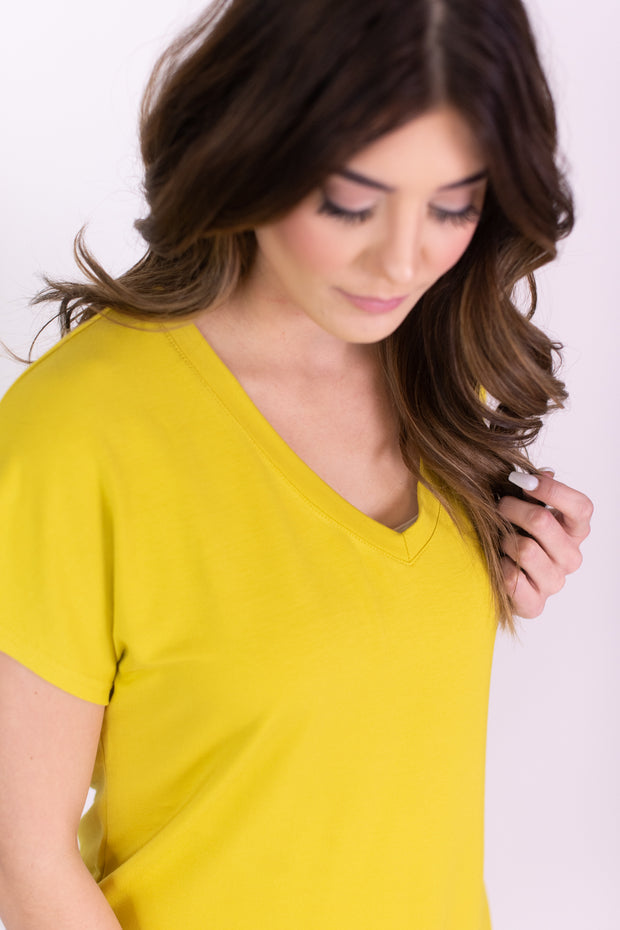 Soft V-Neck Basic Tee