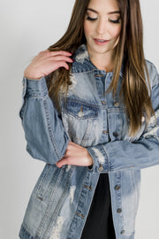 Oversized Boyfriend Denim Jacket