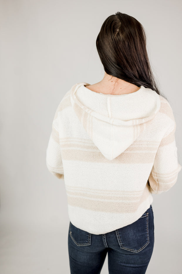 Casual Pullover Sweater w/ Hood