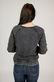 French Terry Raglan Long Sleeve Top