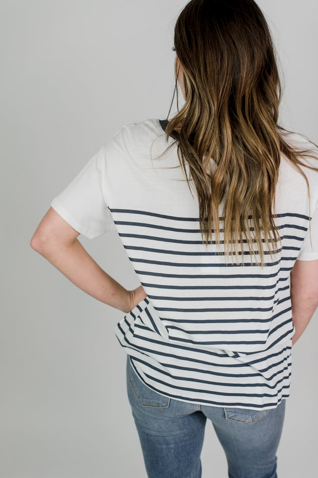 Z Supply Fiore Stripe Tee