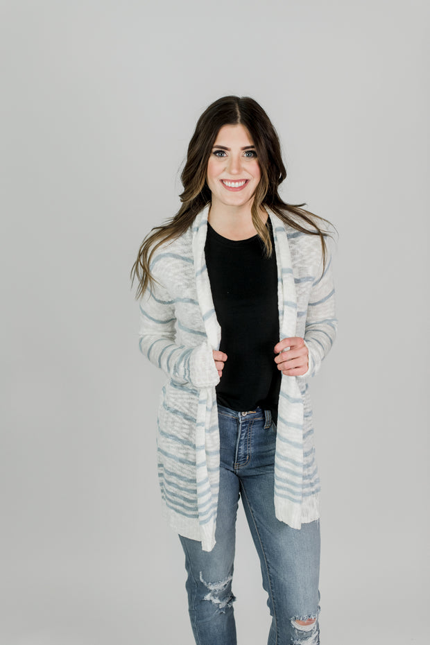 Soft Striped Cardigan