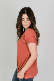 Side-Twist Knit Tee