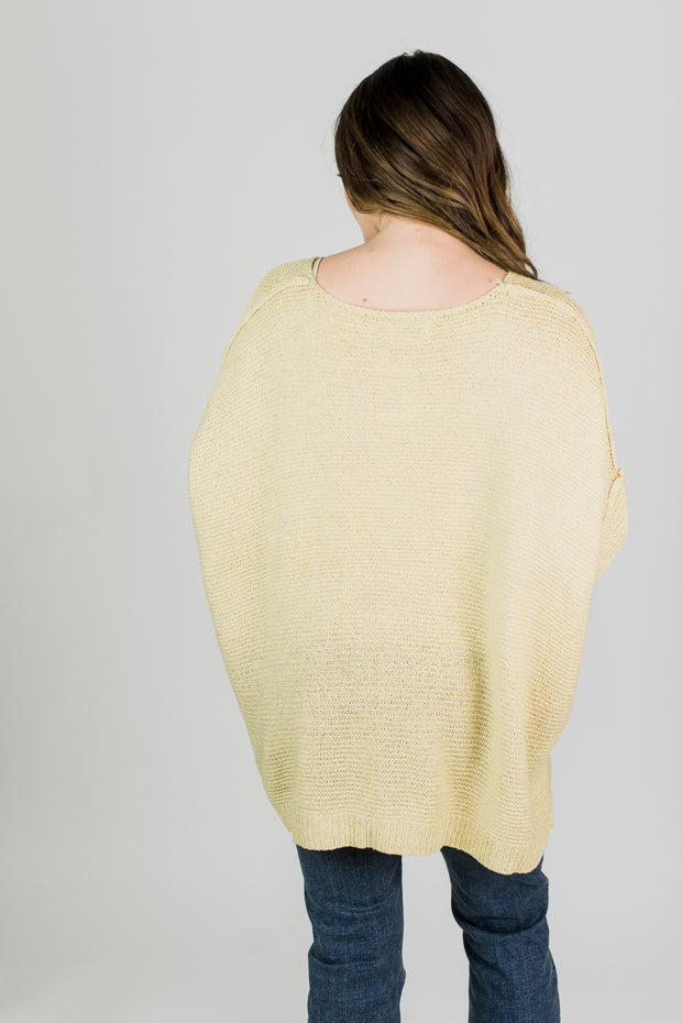Boxy Knit Sweater Top