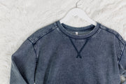 Knit Denim Pullover Indigo