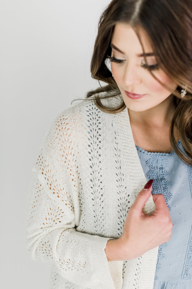 Dainty Lace Patterned Cardigan
