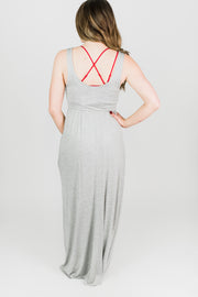 Sleeveless Empire Waist Maxi Dress