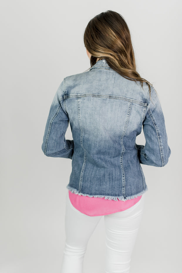 KanCan Sofia Distressed Jacket