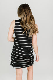 Mock Neck Straight Fit Dress