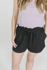 Paperbag High Waisted Shorts