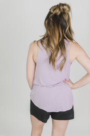High-Neck Knit Tank