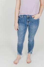 Abby Crop Skinny w/ Scalloped Hem