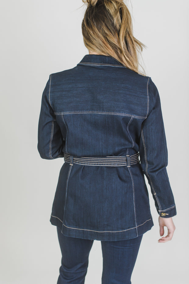 Virginia Belted Long Jacket