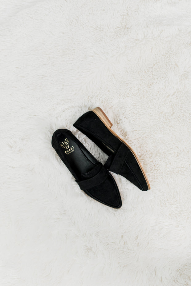 Faux Suede Logan Black