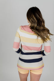 Lightweight Striped Pullover Sweater